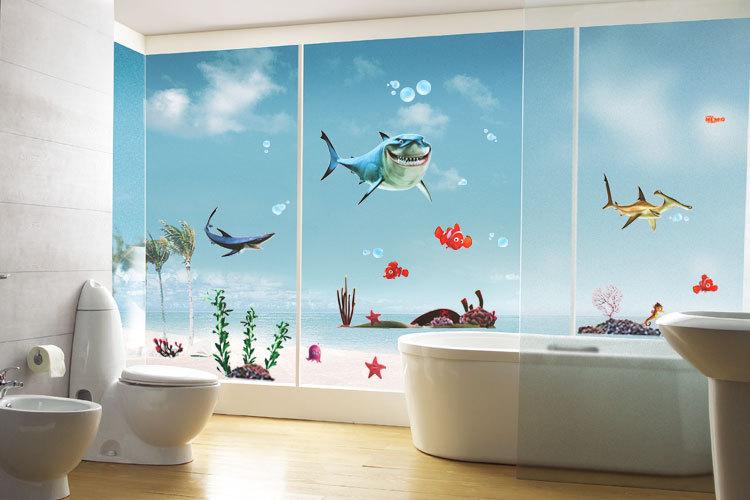 Compra etiqueta engomada de nemo online al por mayor de for Cool kid bathroom ideas