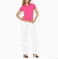 Free Shipping 2013 New Brand Polo Shirt For Women,Women's Short Sleeve Polo Shirt 100% Cotton
