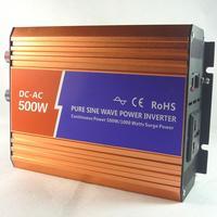 Pure sine wave inverter 24v 220v 500w car converter inverter free shipping