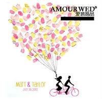 A3 Personalised Balloon Fingerprint Wedding Guest Book Alternative, wedding supplies wholesale dropship free shipping