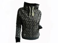 women's fashion print hoody sweatshirt casual pullover fleece cotton lycra