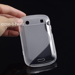Free Shipping Soft S-Line Wave TPU Gel Cover Case Skin for Blackberry Bold 9900 9930 (8 Colors Available)(China (Mainland))