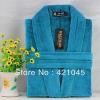 Lovers bathrobe 100% cotton autumn and winter thickening 100% cotton bathrobes bathrobe terry toweling robe lovers sleepwear