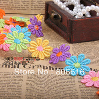 2.6CM 15Yard 100% Polyester String Lace Colourful Flower Dentelle Braid Belt DIY Jewelry Findings Garment Accessories