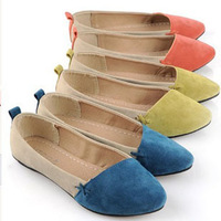 Free Shipping Lovely Women's Shallow Mouth Flat Shoes Ladies Summer Comfortable Flats Sandals SH-018