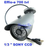 """Free shipping new  outdoor camera Effio-e 700TVL 1/3 """"sony ccd 24IR 6mm cctv Security Camera"""