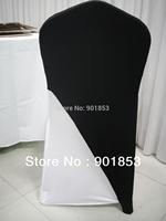 black spandex chair cover cap