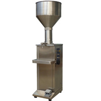 Vertical pneumatic sauce & sauce piston filling machinery automatic filler,pedal runny object packing equipment to food beverage