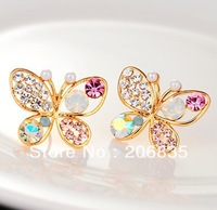 Fashion Full Rinestone  Bowknot  Earring Butterfly Earrings