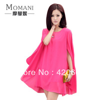 2013 Summer dresses for women casual cloak chiffon one-piece dress Free shipping