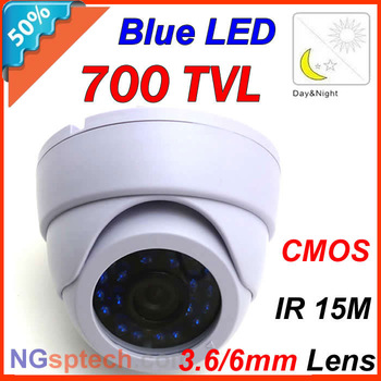 2013 Newest most popular,700TVL Indoor Camera Blue light IR 15m free shipping