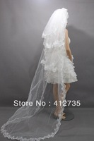 Free shipping bride lace long veil photography 200cm