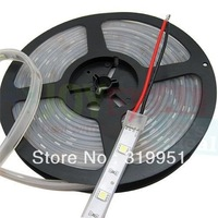 Motorcycle LED lights 5050 Waterproof 300LEDs DC24V 72W LED Light Strips IP67 White PCB LED RGB LED Strip 5050 Free Shipping