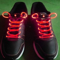 Wholesale Fashion colorful led flashing shoelace, led shoelaces,Laser Shoelaces party shoelace christmas gift