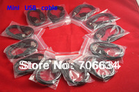 Freeshipping 10X best  50cm length long  Mini USB cable 5-PIN USB 2.0 for GPS device, mini dvr,mp3,MP4