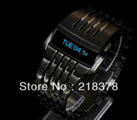 2013 luxury LED Watch with Stainless Steel fashion men watch sport led watch fress shipping