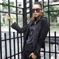 Women's autumn 2012 female short jacket winter black jacket green military