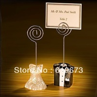 Bride and Groom Place Card Holders for wedding (100 Sets)+Wholesale Free Shipping