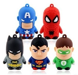 New super man model USB 2.0 Enough Memory Stick Flash pen Drive 4GB,8GB,16GB,32GB Free shipping