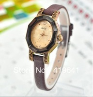 free   shipping  Korean fashion cutting surface crystal female form diamond watches retro table