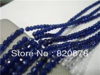 Wholesale 6mm Faceted Blue Sapphire Loose Beads 15''   Fashion jewelry