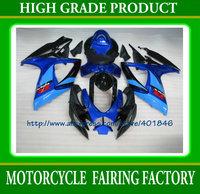 ABS high quality body part anniversary 2006 2007 GSX R600 R750 ABS plastic SUZUKI K6 black/blue racing fairings kit