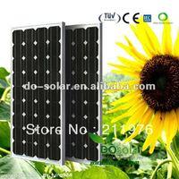 Free shipping--MONO 145 watt Solar Panels by 156x156 mono high efficiency cells for solar power system in stock