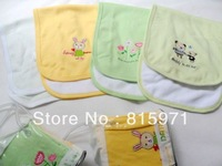 Free shipping (2 pieces/lot) 100% cotton baby Sweat-absorbent back mat soft children hankerchiefs