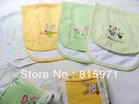 Free shipping (2 pieces/lot) 100% cotton baby Sweat-absorbent back mat soft children hankerchiefs
