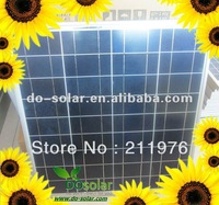 Free Shipping- 65W 18V high efficiency POLY Solar Panel for 12V battery storage in stock