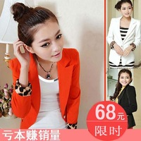 2013 women's spring outerwear candy color suit blazer formal leopard print slim suit