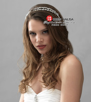 New Style Bridal Bride Tiaras Hair Accessories Alloy pearls Hair Wear KLS-TI131