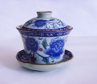 Free shipping Blue and white porcelain tureen Large tureen teacup tureen bowl