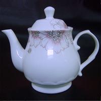Free shipping Beauty teapot white teapot bone china teapot pot teaports big large capacity