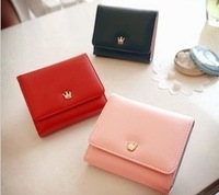 Free Shipping 2013 short design wallet female women's wallet color block small wallet card holder NQB09