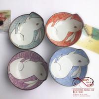 Free shipping New arrival bowl tableware cartoon ceramic bowl rabbit multicolour 3.5 shaped bowl birthday gift