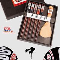 Free shipping Chopsticks quintessence facebook chopsticks natural chopsticks gift box set tableware gift