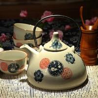 Free shipping Jingdezhen ceramic herbal tea teapot water bottle 5 piece set glass antique