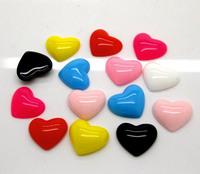 100Pcs Mixed Heart Flatback Scrapbooking Resin Cabochons Craft 16x13mm