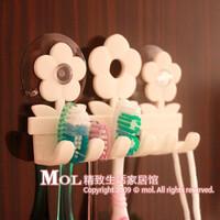 Free shipping Mol toothbrush hanging toothbrush holder 5 toothbrush white