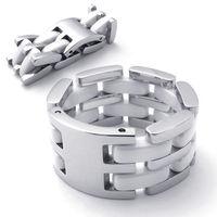 men`s rings 21343 stainless steel double layer ceramic ring boys titanium male men's Men ring punk