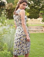 Single 100% print cotton o-neck sleeveless one-piece dress slim waist tank dress female 3