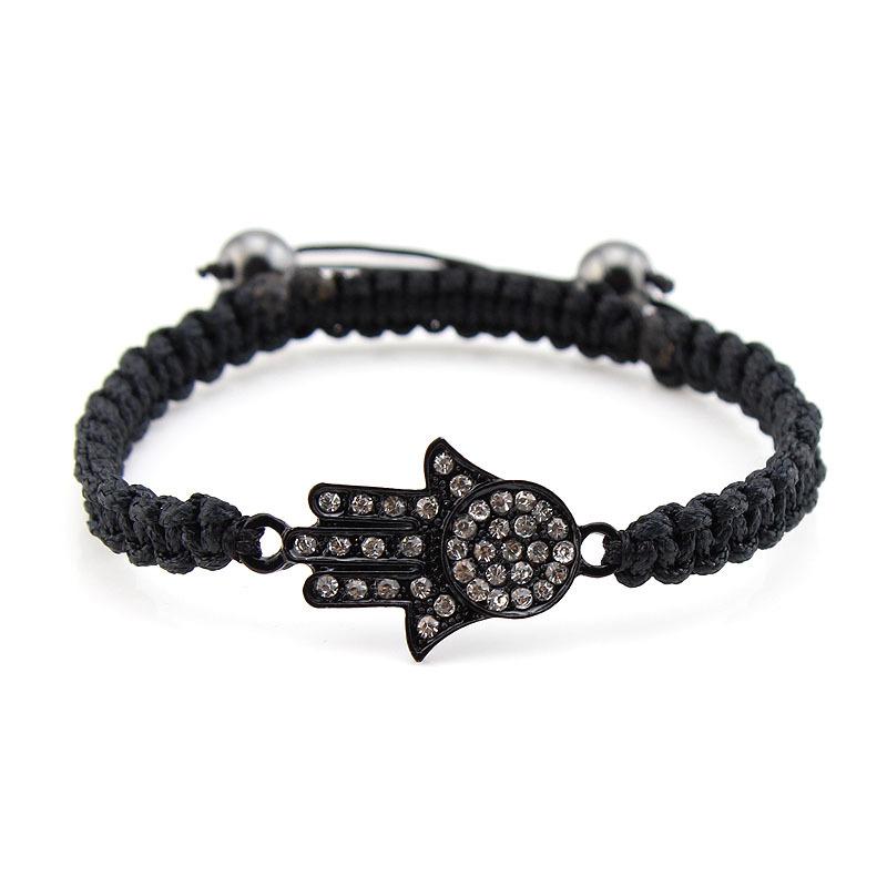 Min. Order $10 SN12107 Hot Sale Shamballa Bracelet Hamsa Hand Bracelet Crystal Hand 8 colors(China (Mainland))