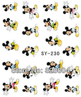 20Sheet x nail water Design Tip Nail Art Sticker Decal Manicure Mix Color Mickey Mouse  series Free Shipping  y-230