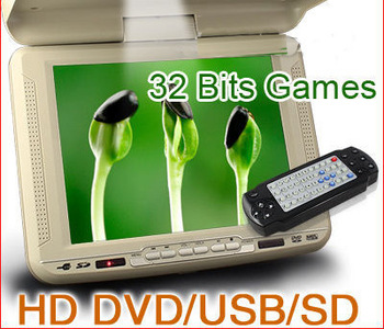 KS668 10.4inch HD Roof Mounted Monitor DVD/USB/SD Player 32 Bits Games+free shipping