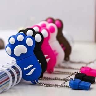 Love feet usb flash drive 8g personality paws 8g cat's claw cartoon usb flash drive tin