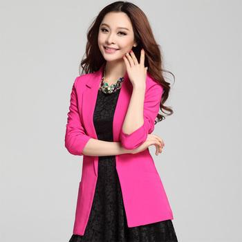 2013 spring slim medium-long plus size rose female long-sleeve suit blazer outerwear