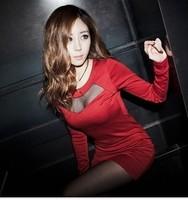 91 2013 gauze sexy zipper back slim one-piece dress
