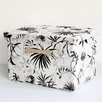 Straw braid folding storage box storage organizer wash painting size:48x32x30cm