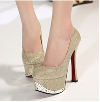 2013 the new spring shoes shoes high-heeled thick bottom lady's high heel shoes plateform Pumps